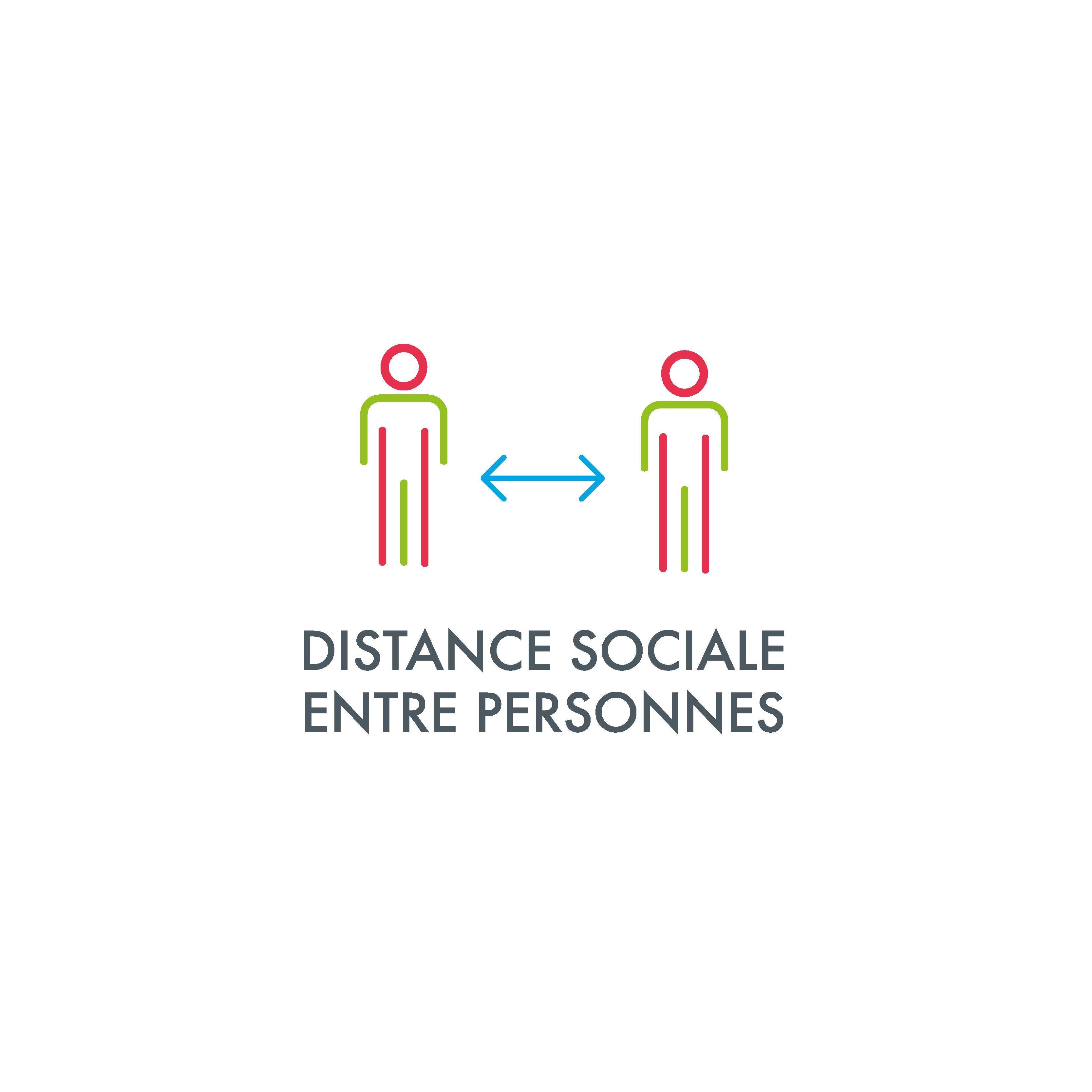 Distance sociale entre personnes
